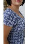 Стильна літня сукня 2021 прошва великого розміру LB204603 синя