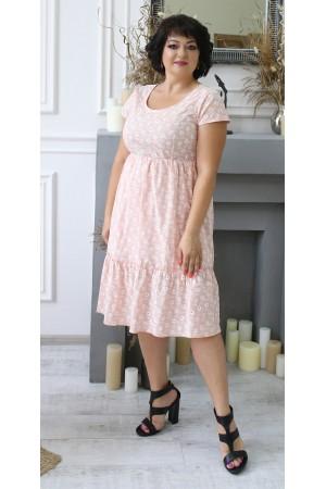 Літня сукня 2021 прошва великого розміру LB204602 пудра