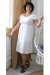 Стильна літня сукня 2021 прошва великого розміру LB204601 біла