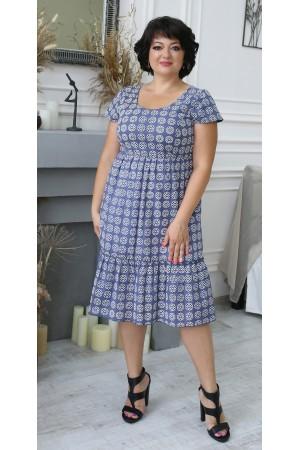 Літня сукня 2021 прошва великого розміру LB204603 синя