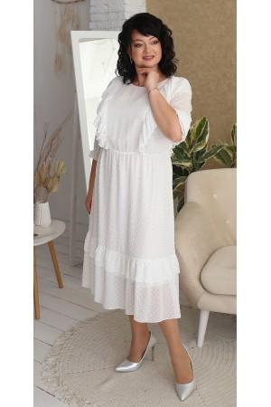 Нарядна шифонова сукня великого розміру LB218901 білий
