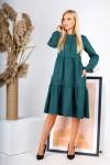 Плаття  повсякденне замшове на осінь вільного крою AL88004 зелене