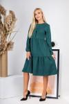 Плаття  замшове на осінь вільного крою AL88001 чорний