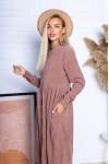 Сукня з мікровельвету вільного крою AL88202 ліловий
