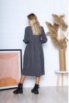 Сукня з мікровельвету вільного крою AL88203 синій
