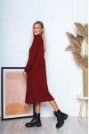 Сукня з мікровельвету вільного крою AL88204 бордо