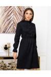 Сукня з мікровельвету напівприталена крою AL88303 чорний
