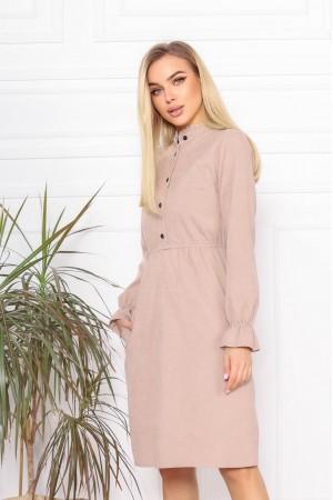 Плаття вельветові осінь-зима 2021 AL88302 мокко