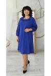 Вишукане нарядне плаття великого розміру трапеція LB223602 електрик