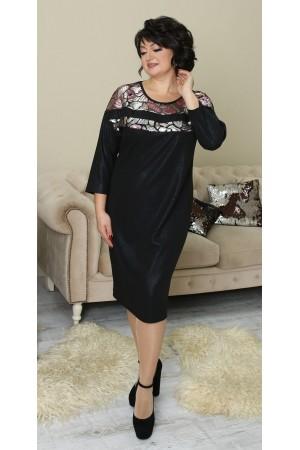 Сукня з паєтками великого розміру LB212702 чорне