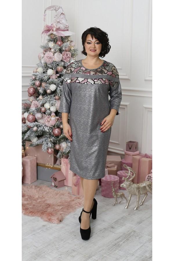 Сукня з паєтками великого розміру LB212701