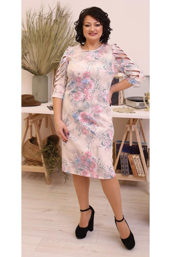 Модна весняна сукня великого розміру LB213702
