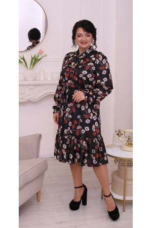 Весняна сукня великого розміру LB214901 квіти