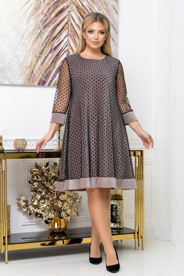 Сукня нарядна вільного крою  YM41301 Довжина сукні по спинці - 105см.