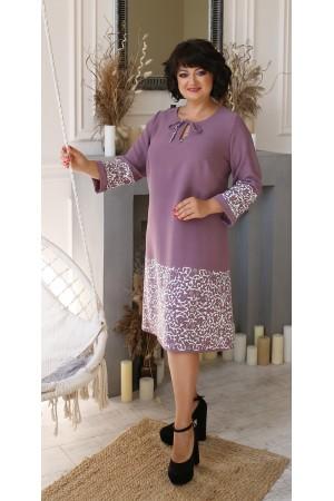 Сукня великого розміру LB207102 колір ліловий