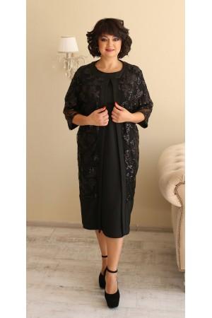 Чудова сукня з кардиганом великого розміру LB188801 чорний