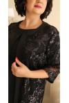 Плаття нарядне  з кардиганом великого розміру LB188801 чорний