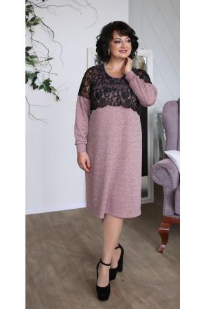 Сукня з ангори великого розміру  LB208603 пудра