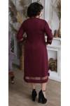Плаття нарядне  великого розміру LB209201 бордо