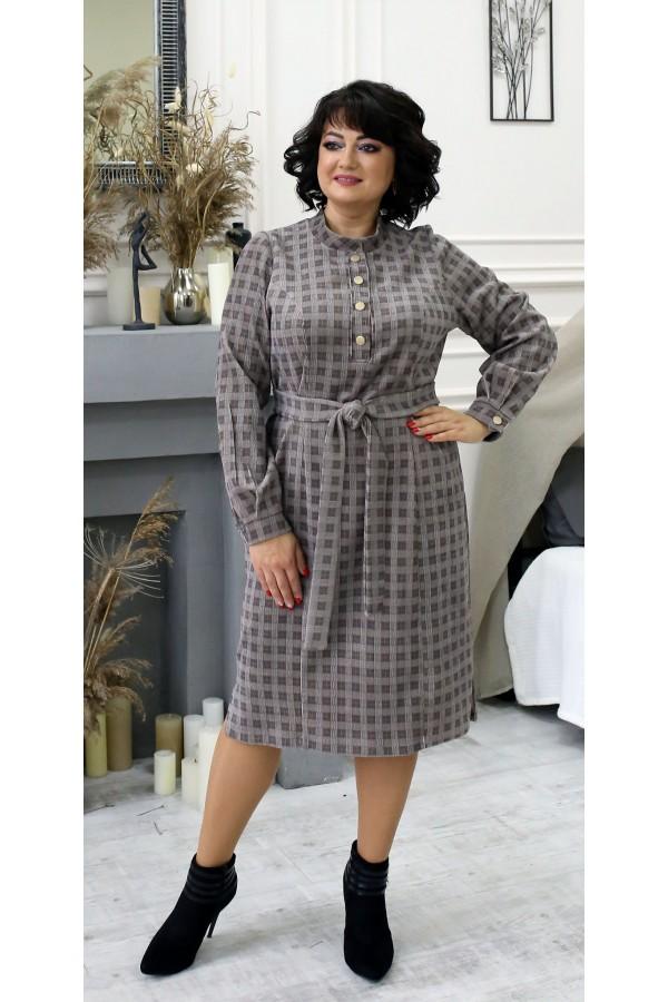 Платье из вельвета большого размера LB210101