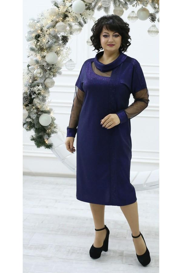 Изумительное нарядное платье LB210902 синяя