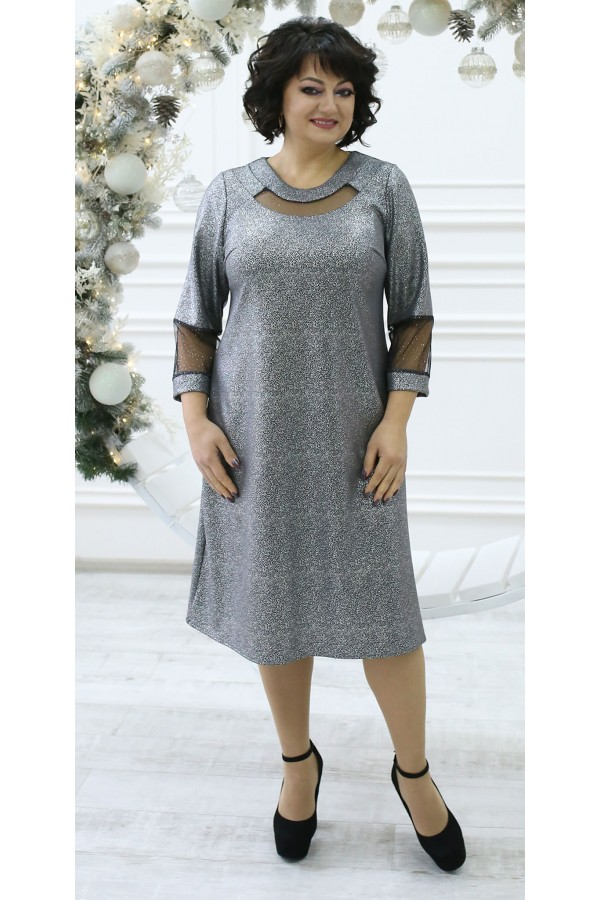 Изумительное нарядное платье LB211303 серый