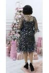 Плаття нарядне  великого розміру LB209203 бузковий