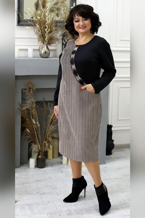 Сукня вельветова великого розміру LB2105