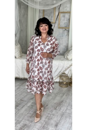 Шифонове літнє плаття великого розміру LB221501