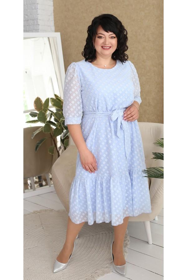 Нарядне шифонове плаття LB218701 блакитний