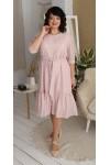 Сукня нарядна шифонова LB218703 пудра