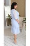 Сукня нарядна шифонова LB218701 блакитний