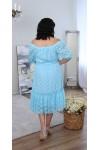 Сукня  літня великого розміру LB219001  мята