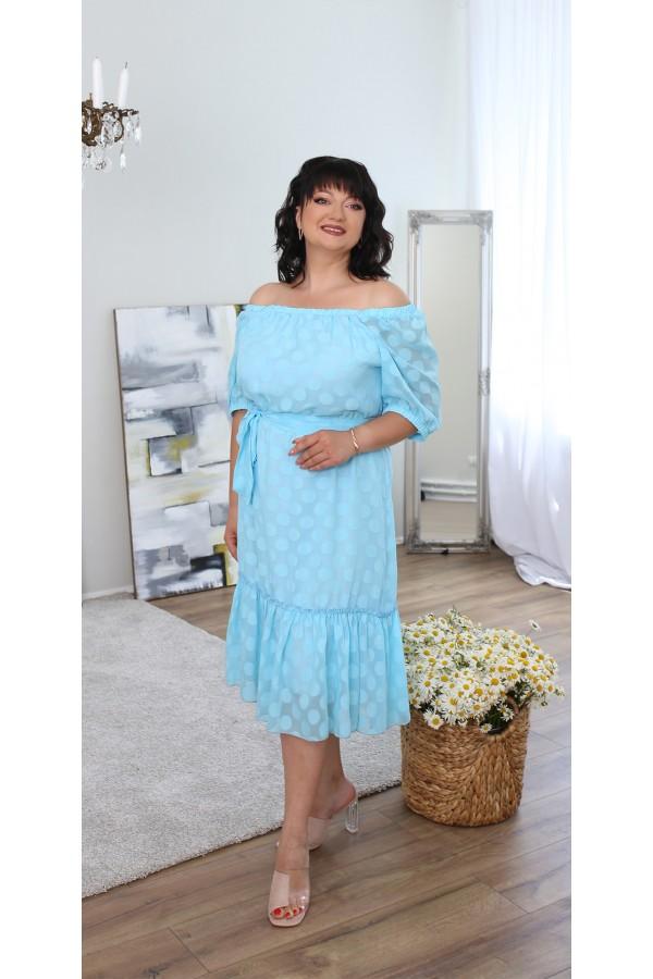 Шикарна сукня великого розміру LB219001 мята