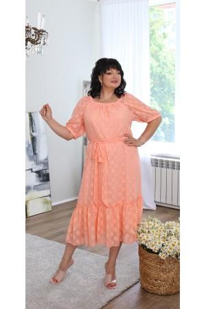 Шикарна сукня великого розміру LB219002 оранж