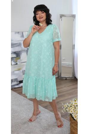 Легке літнє плаття великого розміру LB219501 мята