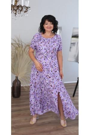 Літня сукня максі LB220803 бузковий