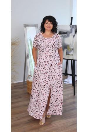 Літня сукня максі LB220802 пудра