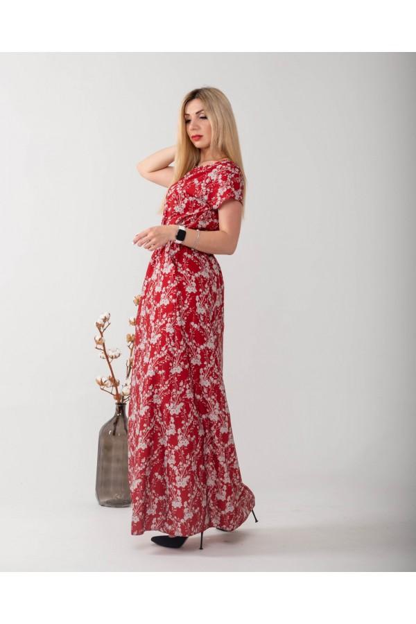 Плаття в пол великого розміру  NN363101 червоне