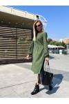 Сукня з мікровельвету вільного крою YM43802 зелене
