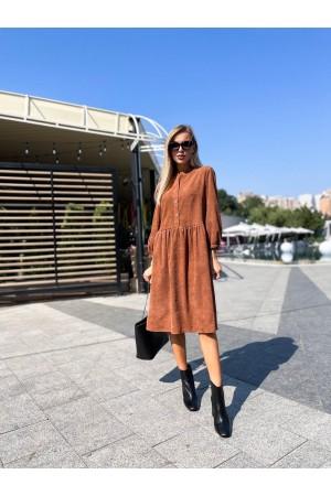 Плаття вельветове осінь-зима 2021 YM43803 гірчиця