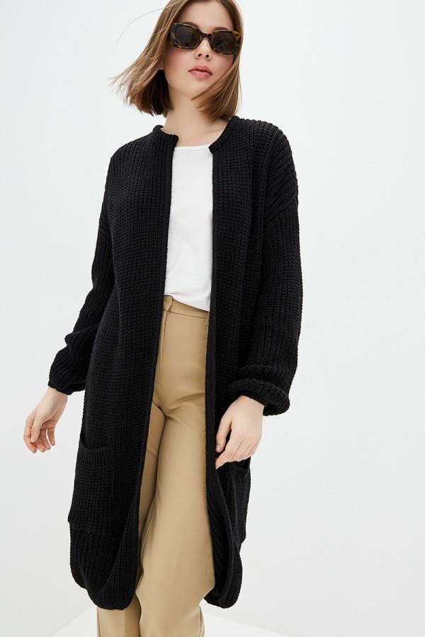 'Язані кардиган осінь-зима XW46601 чорний