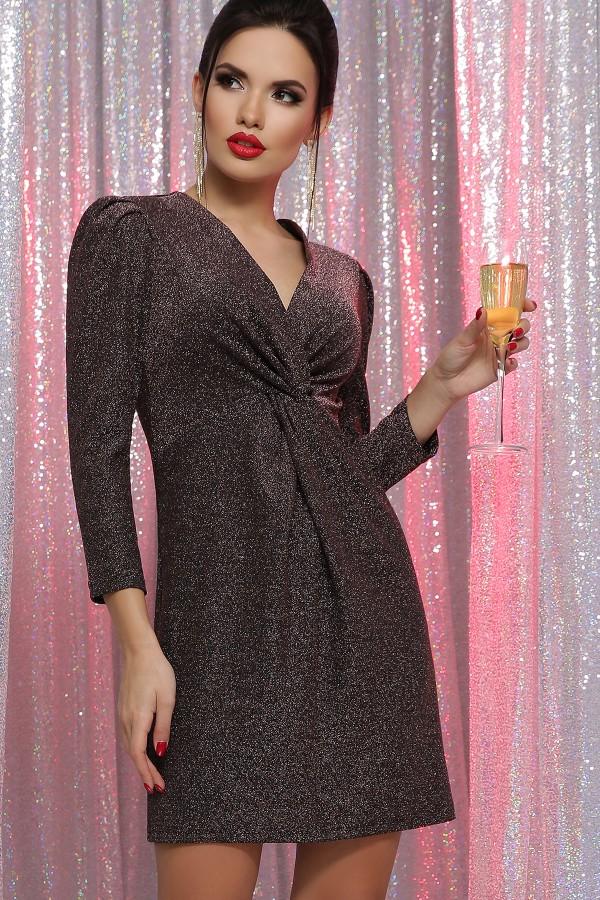 Плаття Ніла 3/4 GL64395 колір чорний-бронза