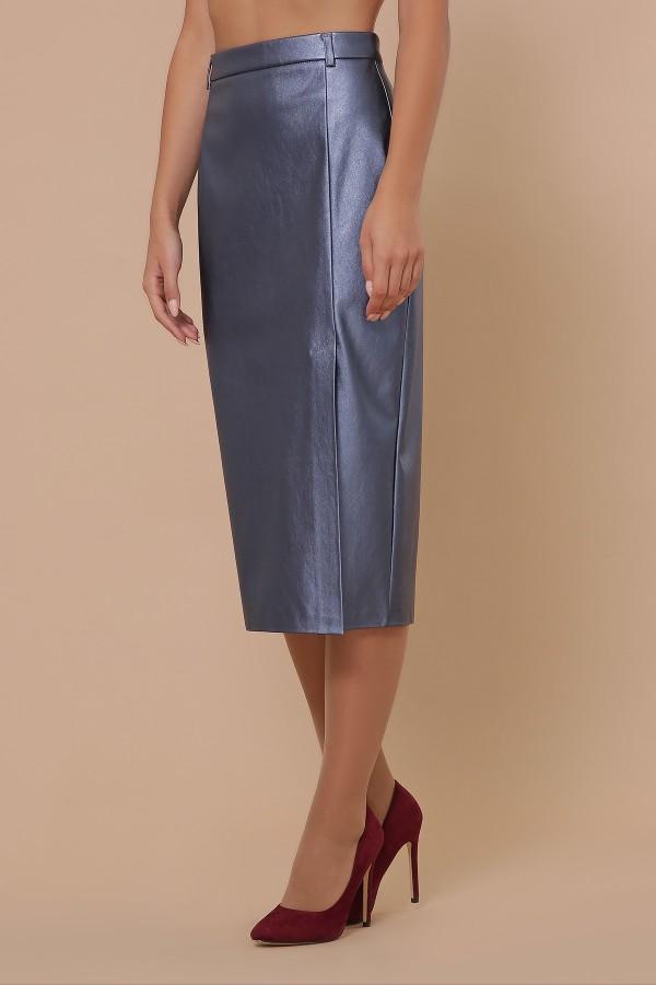 спідниця мод. № 40 GL51357 колір синій перламутр