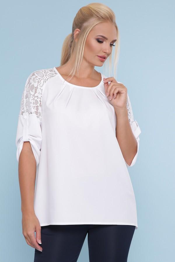 блуза Гретта-Б 3/4 GL47877 цвет белый