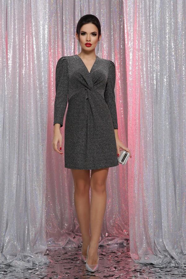 Платье Нила 3/4 GL64392 цвет черный-серебро