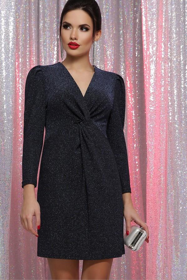 Платье Нила 3/4 GL64394 цвет черный-синий