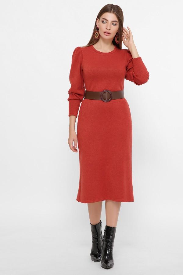 Платье Жизель д/р GL61428 цвет терракот