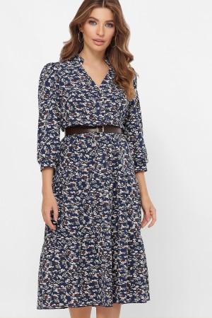 Платье Мэдисон 3/4 GL61510 цвет синий-м. цветы
