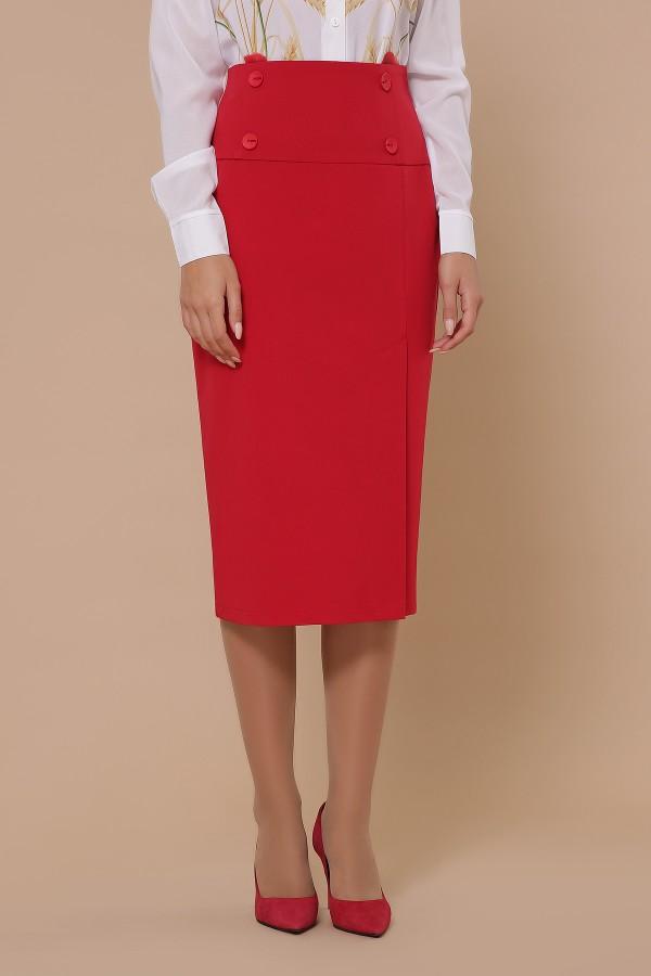 юбка мод. №42 GL51355 цвет красный